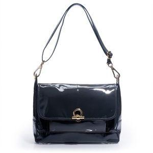 J. Crew Patent Leather Messenger Campo Bag